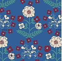 ディズニーキャラクター生地 ミッキーマウス ミニーマウス コットン 100% Disney Mickey Mouse Minnie Mouse Fabric 45cm X 110cm