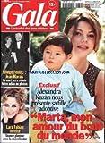 GALA [No 284] du 19/11/1998 - ALEXANDRA KAZAN - EDWIGE FEUILLERE ET JEAN MARAIS - ADIEU - LARA FABIAN.