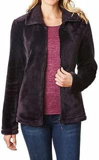 Women's Plush Faux Fur Full Zip Jacket