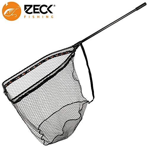 Zeck Folding Rubber Net XL 92,5x70x85cm - Hechtkescher zum Spinnfischen auf Hechte & Zander, Angelkescher, Unterfangkescher