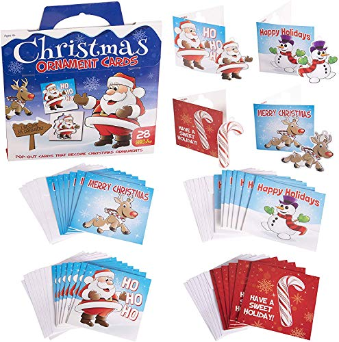 Narwhal Novelties Merry Christmas Cards For Kids (28 Count) (Ornaments)