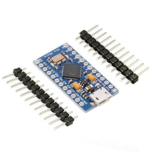 KeeYees PRO Micro ATmega32U4 Modulo di Sviluppo per Arduino IDE Leonardo Bootloader, 5V, 16MHz Micro USB