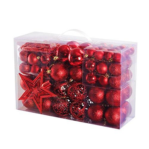 Yorbay - Bolas de Navidad incluyendo la cadena de perlasy la estrella del...
