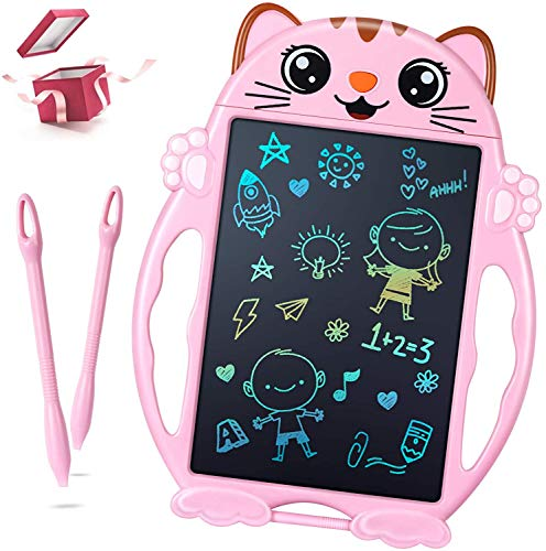 LCD Schreibtafel Mädchen Spielzeug - Geschenke für Mädchen Bunte Maltafel Kinder, Elektronisch 8.5 Zoll Schreibtafel Kinder Spielzeug Mädchen, Kinderspielzeug ab 2 3 4 5 6 7 8 Jahre Mädchen/Jungen