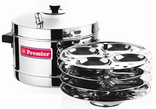Stainless Steel Idli Maker with 4 Ss Idli Racks by Premier