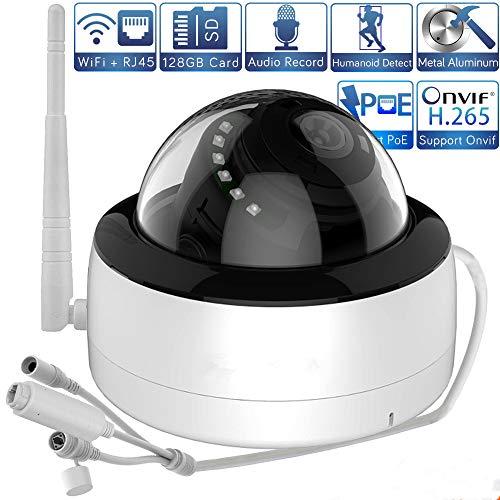 XMEYE iCSee WiFi PoE IP Camera Indoor Dome 5 MP/1080P AI Human Detection SD Card slot audio metaal CCTV videobewaking 1080P(3.6MM)