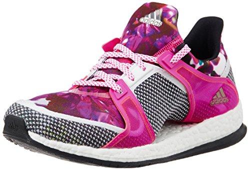adidas Damen Pure Boost X TR W Laufschuhe, Weiß/Schwarz/Pink (Ftwbla/Negbas/Rosimp), 38 2/3 EU