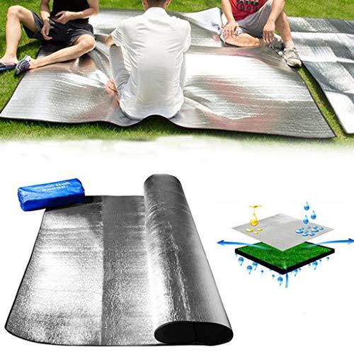 ZZXIAN Picknickdecke Alubeschichtet Stranddecke Isoliert Wasserdicht FeuchtigkeitsbestäNdige Pad Aluminiumfolie Outdoor Picknick Strand (B-2×2M)