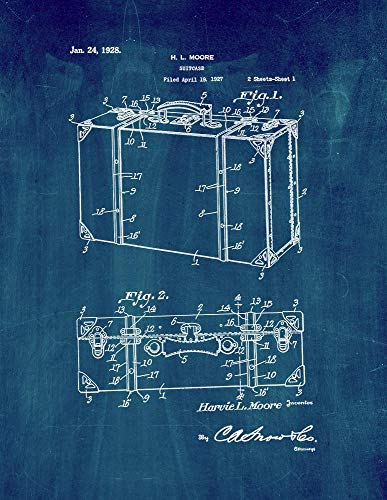 Maleta Patent Print Midnight Blue (11