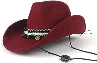 Hat Size 56-58CM Unisex Men Womn Wool Western Cowboy Hat With Band Pop Jazz Hat Adult Fedora Hat Fashion Hat