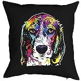 Geile-Fun-T-Shirts Color Zierkissen Neon Beagle Sofakissen Hund Geschenk Kissen 40 x 40 cm geil...