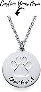 custom paw print necklace