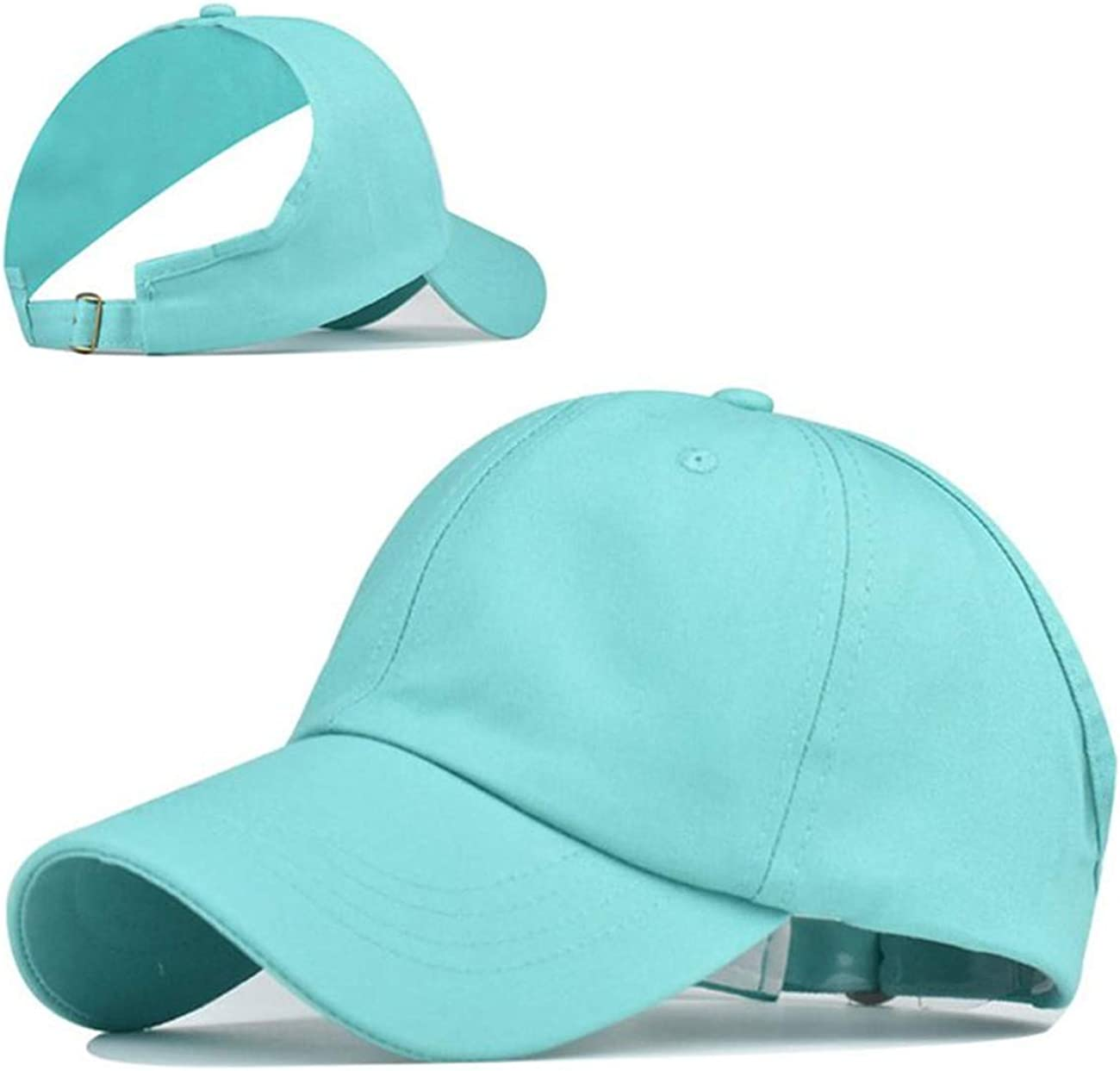 Women Backless Ponytail Hats Summer High Messy Bun Baseball Caps Sun Visor Caps