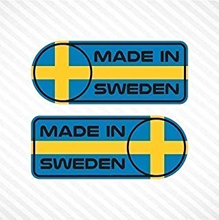 Made In Sweden Sticker Set Vinyl Decal Badge For Swedish Car SUV Quarter Panel Emblem Fits Volvo & Saab