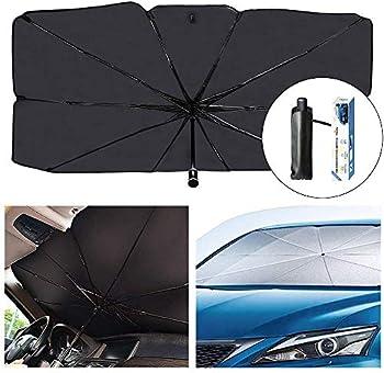Shuq Car Windshield Sun Shade with UV Rays and Heat Visor Protector