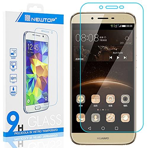 N NEWTOP Protector de pantalla de cristal templado compatible con Huawei G8 Mini, de 0,3 mm de grosor, dureza 9H, de vidrio templado, antigolpes, arañazos