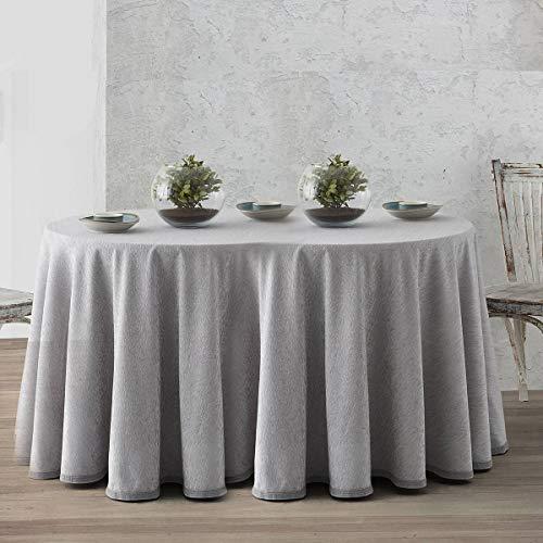 Lanovenanube - Falda Camilla Ovalada Chenilla - 90x120 cm - Color Gris Perla