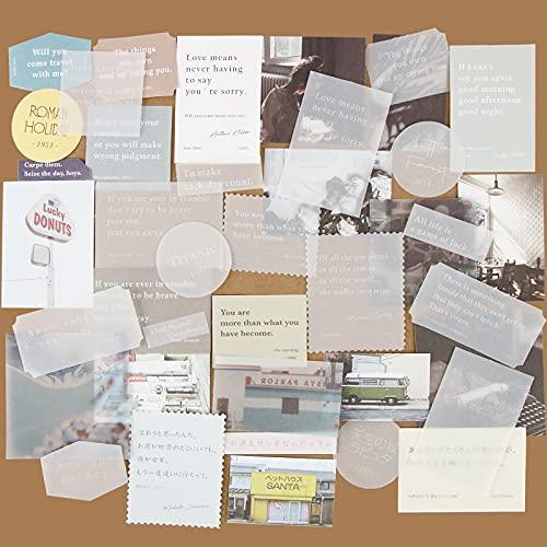 120 Stk Scrapbooking Papier Deko Vintage Bastelpapier Dekopapier Designpapier Scrapbook Zubehör für Tagebuch Notizbuch DIY Kunst und Handwerk