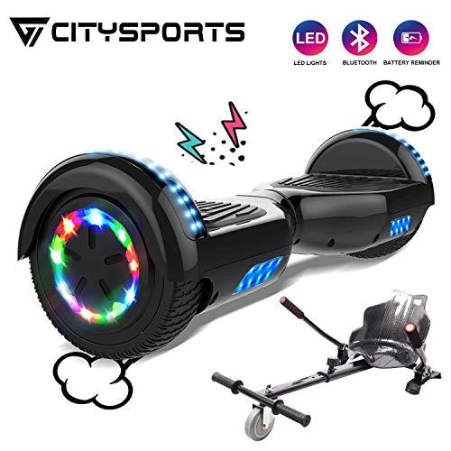 CITYSPORTS Hoverboard 6,5 Zoll Bluetooth, Elektro Scooter Self-Balance Board 350W*2 Motor mit LED-Blitzrädern