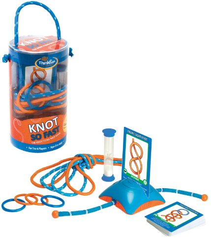 Think Fun Knot So Fast Innovative Knot Tying Game with 40 Challenges