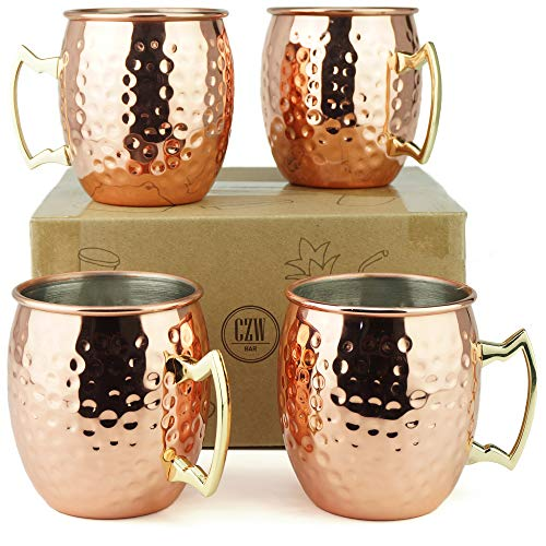 Moscow Mule Mugs - Stainless Steel Lining