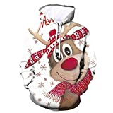 MINIKIMI Weihnachtspullover Unisex Kapuzenpullover 3D Gedruckt Rentier Pullover Ugly Christmas Sweater Pulli Langarm Drawstring Hoodie Oversize Sweatshirt Mit Tasche
