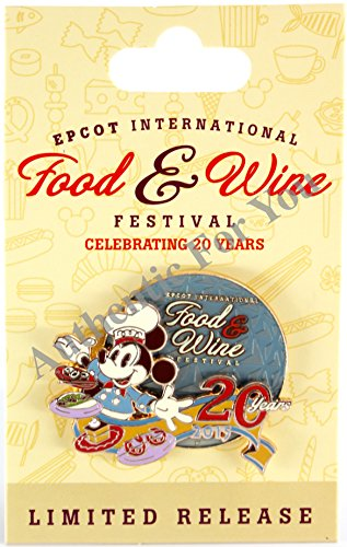 Disney 2015Epcot 20. International Food & Wine Festival Chef Mickey LIMITED Release LR Trading Pin