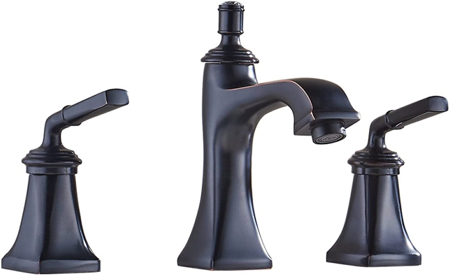 The Bathtub Faucet, The Shower Bath Concealed Triple Switch The Hot and Cold Water Faucet Mixed Mixing Valve,Black
