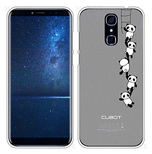 Sunrive Für CUBOT X18 Hülle Silikon, Handyhülle Schutzhülle Etui Case Backcover für CUBOT X18 5,7 Zoll(TPU Panda 1)+Gratis Universal Eingabestift