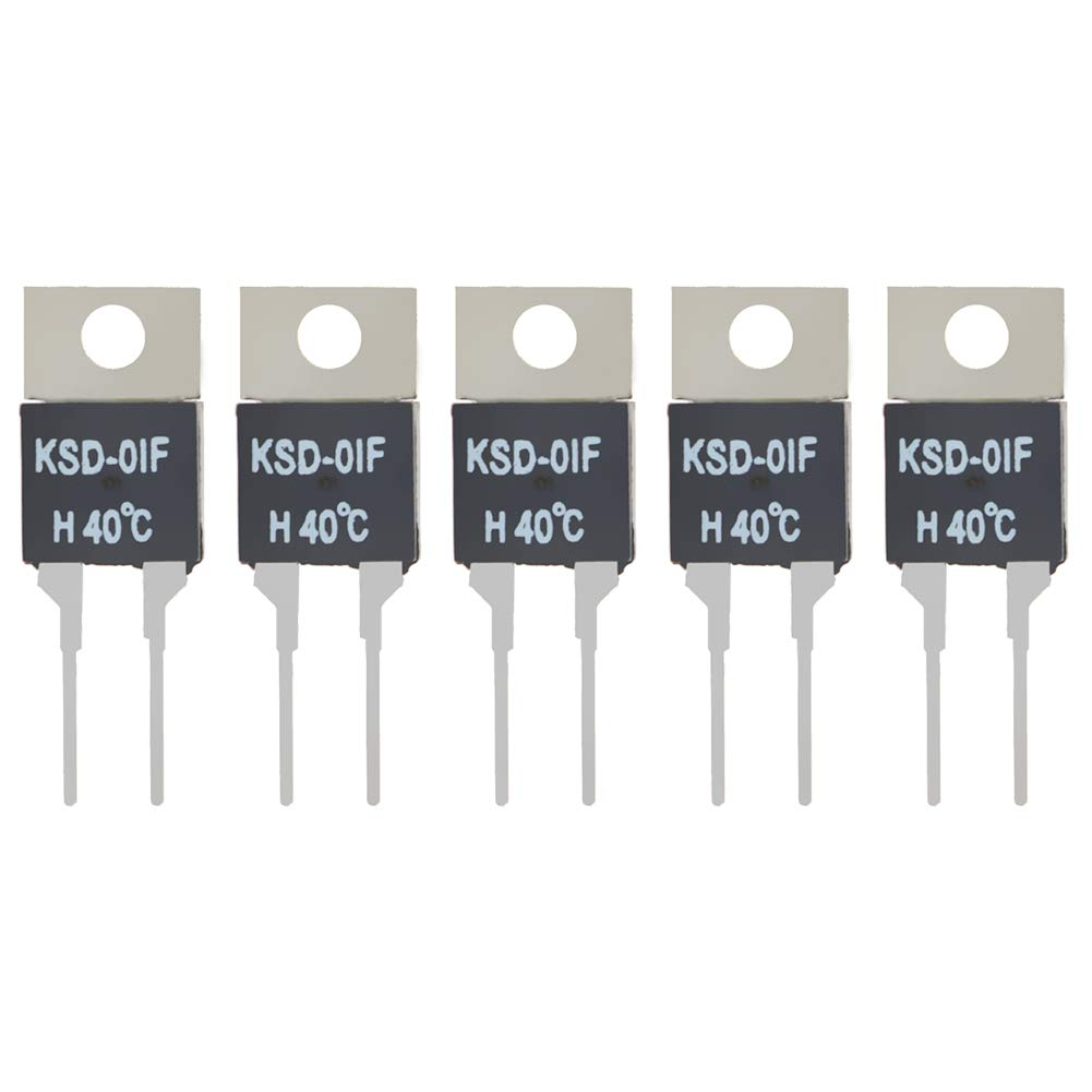 Phoenix Mall Fielect New Shipping Free Shipping N.O 40℃ 5pcs Normally Open Temperature Switch KSD-