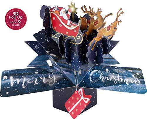 Pop-Up-Weihnachtskarte mit Musik