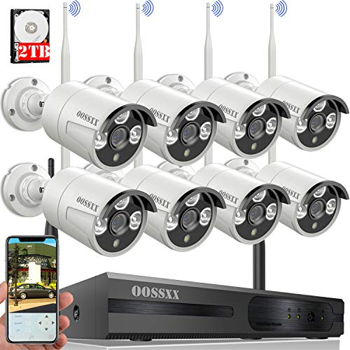 OOSSXX 8-Channel HD 1080P Wireless System/IP...