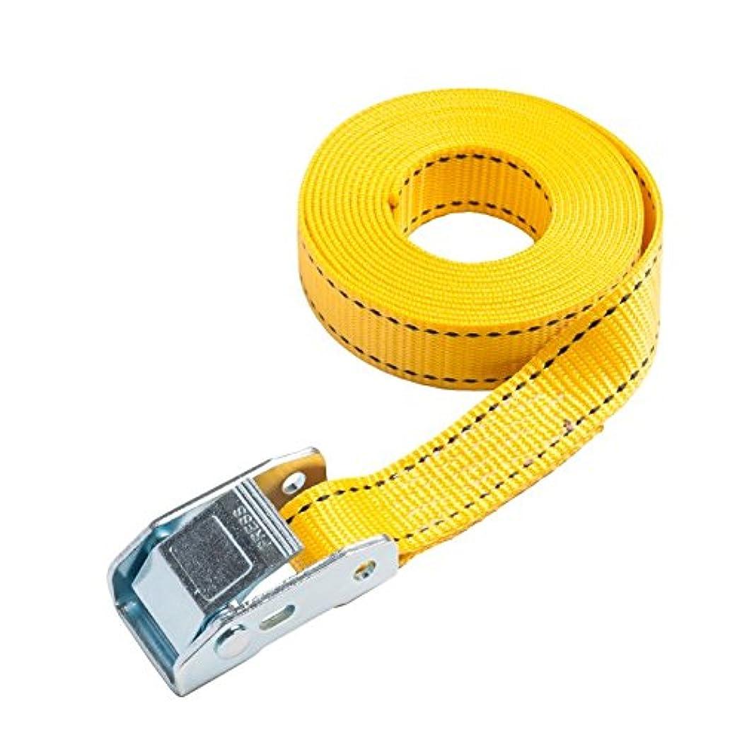 考案する届けるプレゼンテーション25mm幅 カムバックルベルト エンドレスタイプ 1.0m 黄