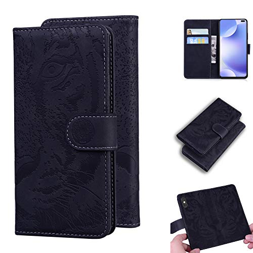 Snow Color Xiaomi Redmi K30 Hülle, Premium Leder Tasche Flip Wallet Case [Standfunktion] [Kartenfächern] PU-Leder Schutzhülle Brieftasche Handyhülle für Xiaomi Redmi K30 - COTX020754 Schwarz