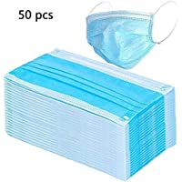 50-Pack Viero Disposable 3Ply Breathable & Comfortable Filter Safety Face Mask