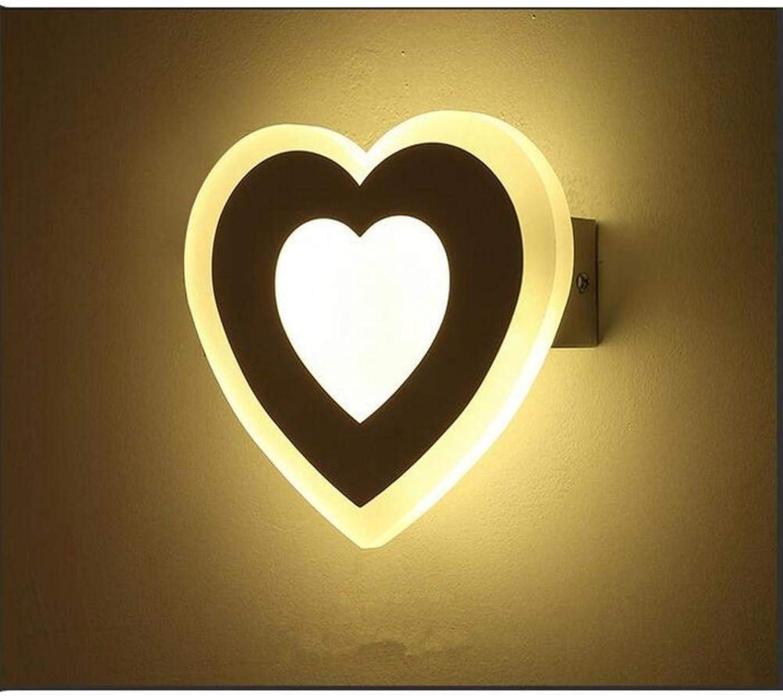 WHKHY Convenience Acryl LED Wandleuchte des Herzens 12W Objekte der Illuminateation Moderne Wandleuchte, einfacher Flur Schlafgemach Gehen energiesparende Wandlampe