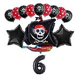Xx101 Globo 13 unids/Set Pirate Boat Balloons 2.8g Skull Latex Globos 32'Número Globo cumpleaños Tema Fiesta decoración de Boda Suministros (Color : Violet)