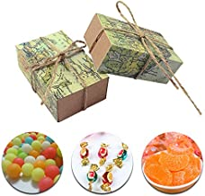 Bags & Wrapping Supplies - 50 Pcs Lot World Map Candy Box Wedding Favors And Gifts Bag Travel Theme Gift Boxes Kraft Paper - Party Box Back World G20n50c Box J5 Day Supplies Party Opp & 360 P