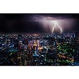Puzzles Lightning Storm City Paisaje Jigsaw Juguetes Educativos para Niños, Juego De Descompresión para Adultos, Decoración Familiar 500/1000/1500/2000 Piezas 0109