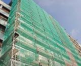 Malla mosquitera andamio para arreglo de fachadas color verde muy resistente (6X12)