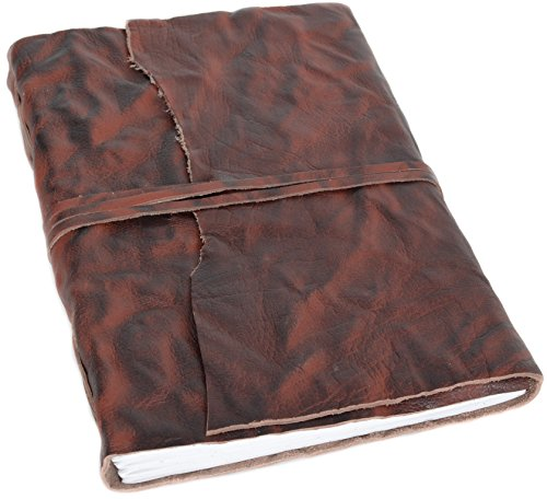 Gusti Buch Leder - Tiffany Skizzenbuch Gästebuch DIN A4 Braun Leder