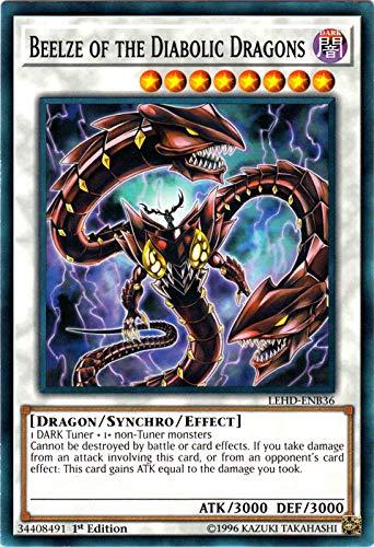 Yu-Gi-Oh! - Beelze of The Diabolic Dragons - LEHD-ENB36 - Common - 1st Edition - Legendary Hero Decks - Aesir Deck