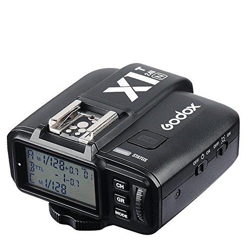 Godox X1T de N Selens iTTL DE 2,4 GHz inalámbrico de Hot Shoe - Disparador de Flash emisor con HSS 32 Canales para Nikon DSLR Cámara Negro