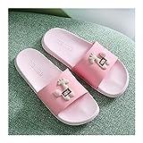 Zapatos de Playa y Piscina Inicio Damas de interior Zapatillas de baño suave Baño antideslizante Deslizadores de ducha con decoración linda de jirafa Zapatillas de playa silenciosa ligeras Sandalia Mu