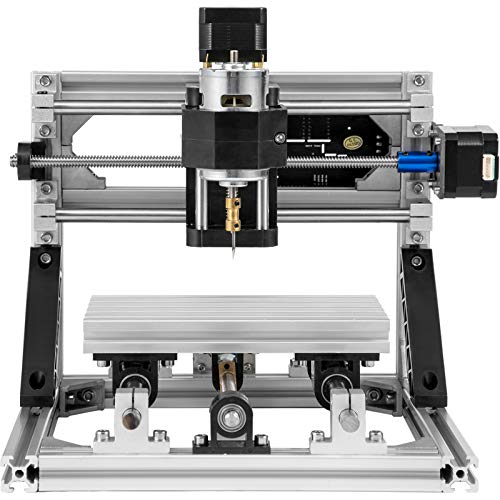 Mophorn CNC 1610 CNC Machine 3 Axis CNC Router Kit with Offline Controller Table Lamps Milling Machine GRBL Control for Plastic Acrylic PCB PVC Wood Carving DIY Ideas(160X100mm,Offline Controller)