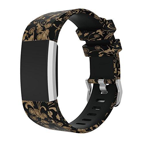 Armband, 20mm, für Fitbit Charge 2, happytop Camouflage-Ersatz, unisex, D
