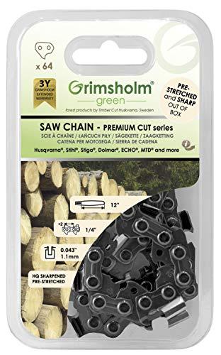 Grimsholm Green 56-64 DL - Cadena para motosierra (1/4' .043'/1,1 mm)
