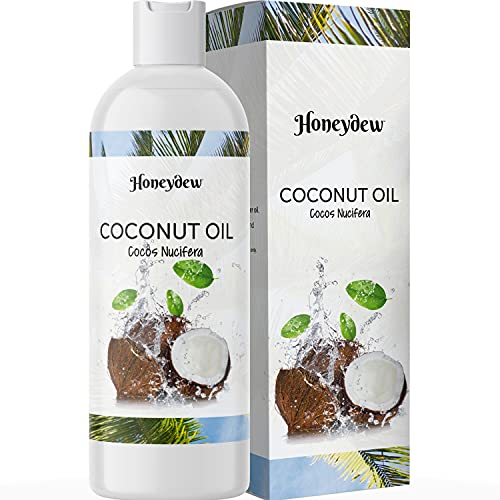 Fractionated Coconut Oil for Hair Care - Coconut Oil Liquid for Hair Anti Aging Face Oil and Body Oil for Dry Skin Care - Coconut Oil for Skin Massage Oil and Carrier Oil for Essential Oils Mixing