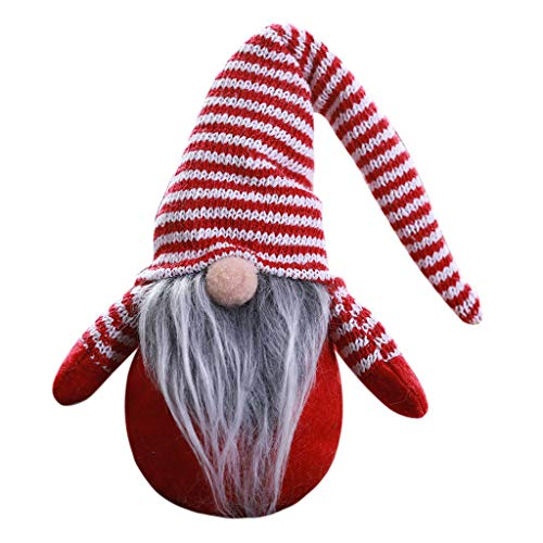 Thinktoo Striped Cap No Face Doll Little Figurine Decoration Nordic Land Old Man Doll