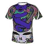 DEA-d & Com-pany - Camiseta de manga corta con estampado 3D y cuello redondo para hombre